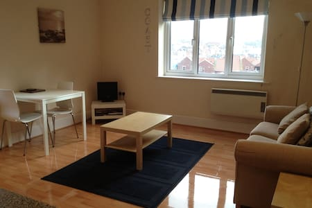 A great hideaway in the centre of Whitby for 2 people. A first floor apartment with an open plan kitchen/ living room an great views up the harbour. Double bedroom and bathroom with bath and shower over the bath.