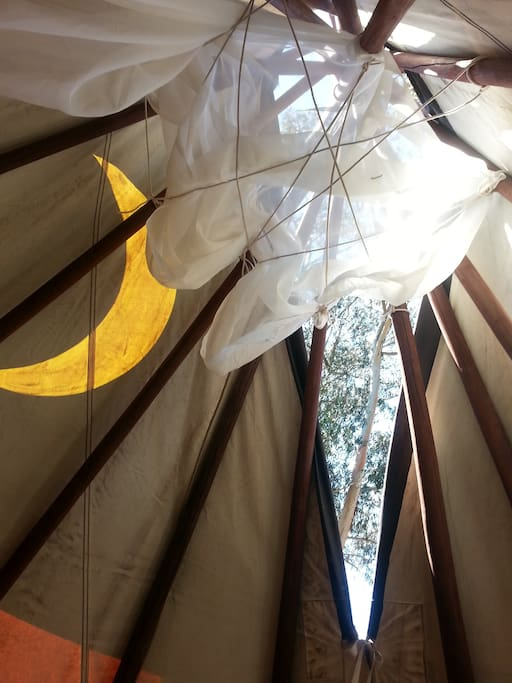 Authentic Native American Tipi with open top