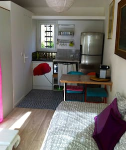 Room type: Entire home/apt Property type: Apartment Accommodates: 2 Bedrooms: 0 Bathrooms: 1.5
