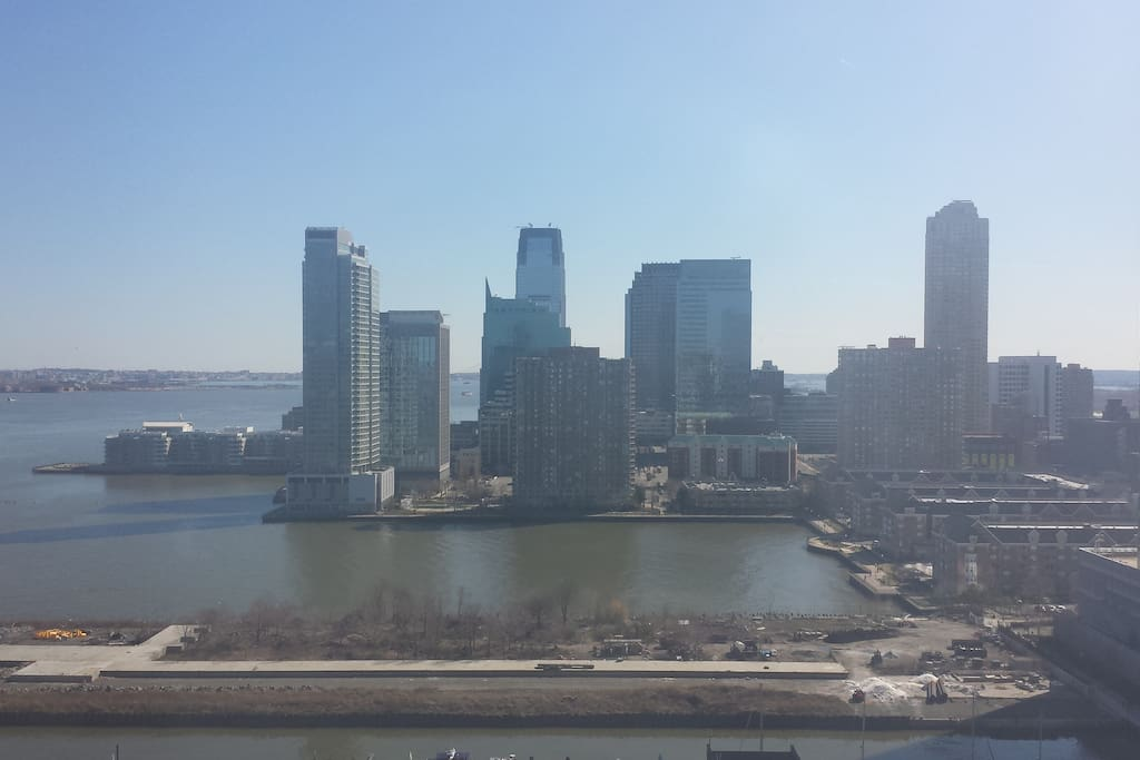 Breathtaking view of Jersey City downtown & harbor