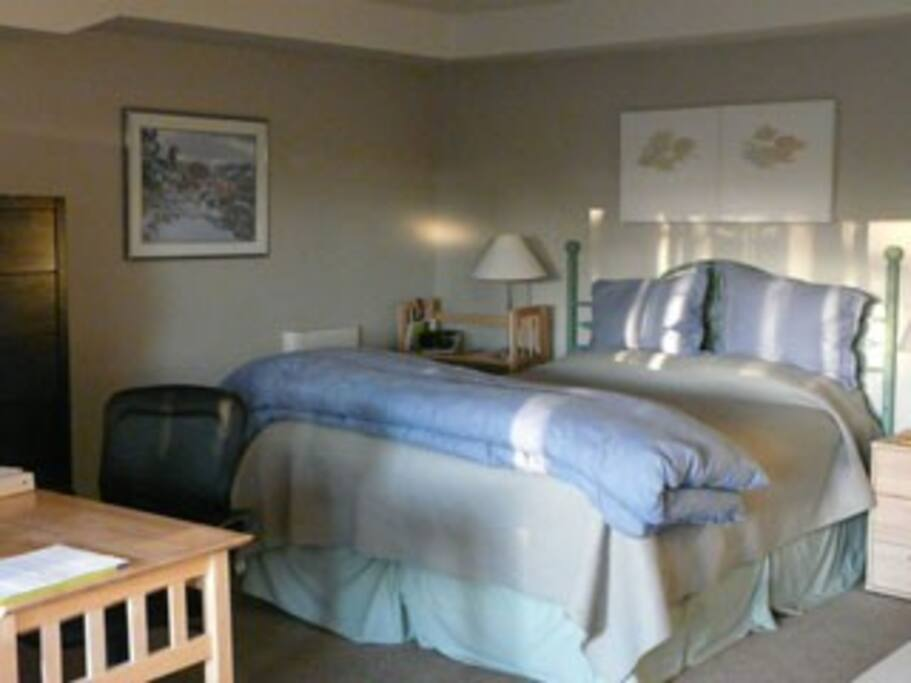 Comfy, Queen Bed and large open Living Area