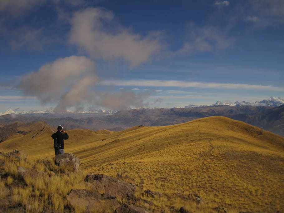 Up above Cusco, trying to summit the three peaks. Mission accomplished.