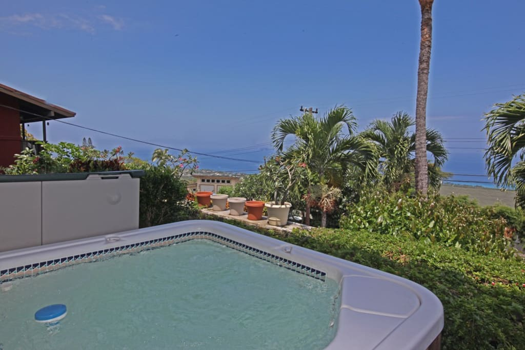Hot tub and ocean view...