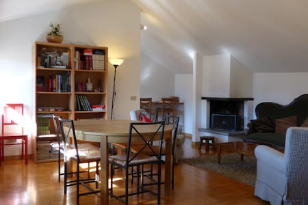 Spacious loft in the heart of Cluso - Clusone - Lägenhet
