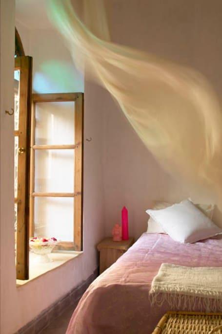 Cool breezy bedrooms.