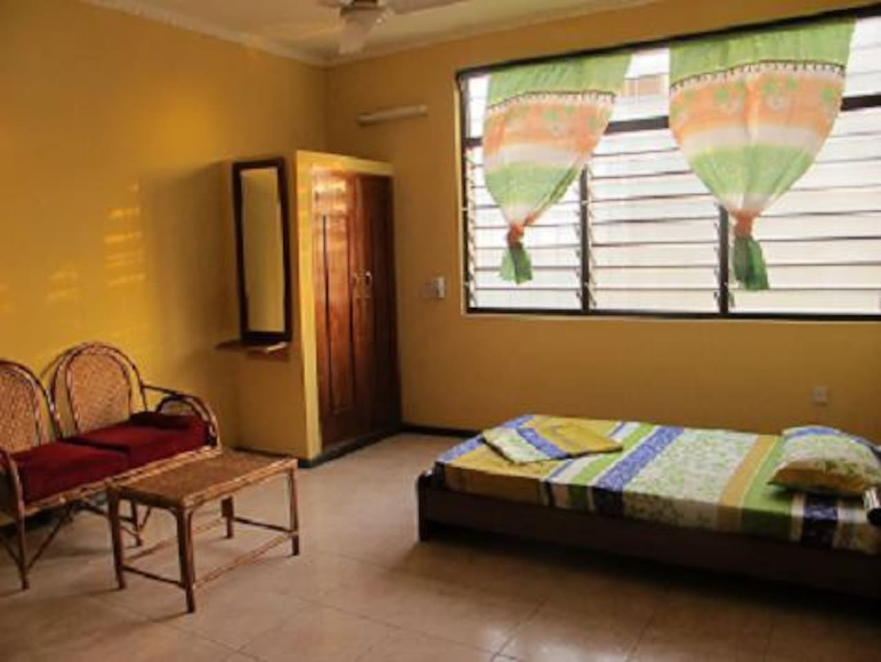Nkwa Foundation Guest Room (single bed). We can also provide a room with two single beds or one queen size bed for couples.