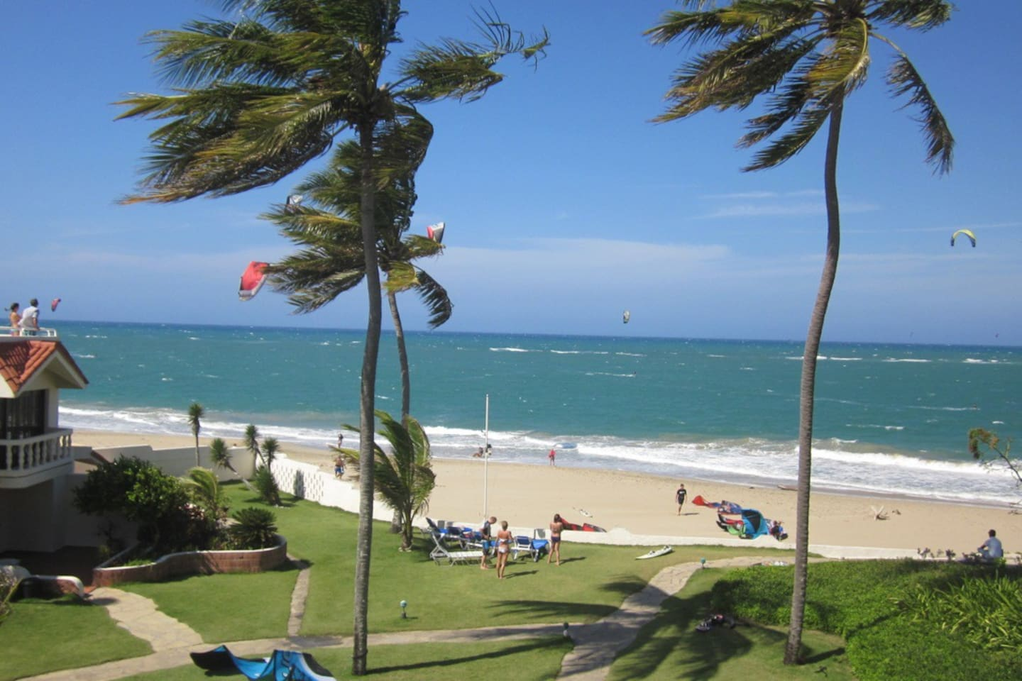 Ultimate kite and windsurf conditions and you have direct access...