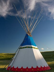 Blackfeet Tipi Village 6 - Browning - Tipi