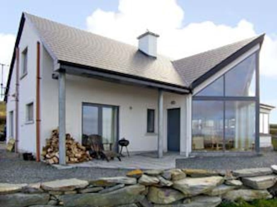 Our house looking out on amazing sea and mountain views in the West of Ireland...
