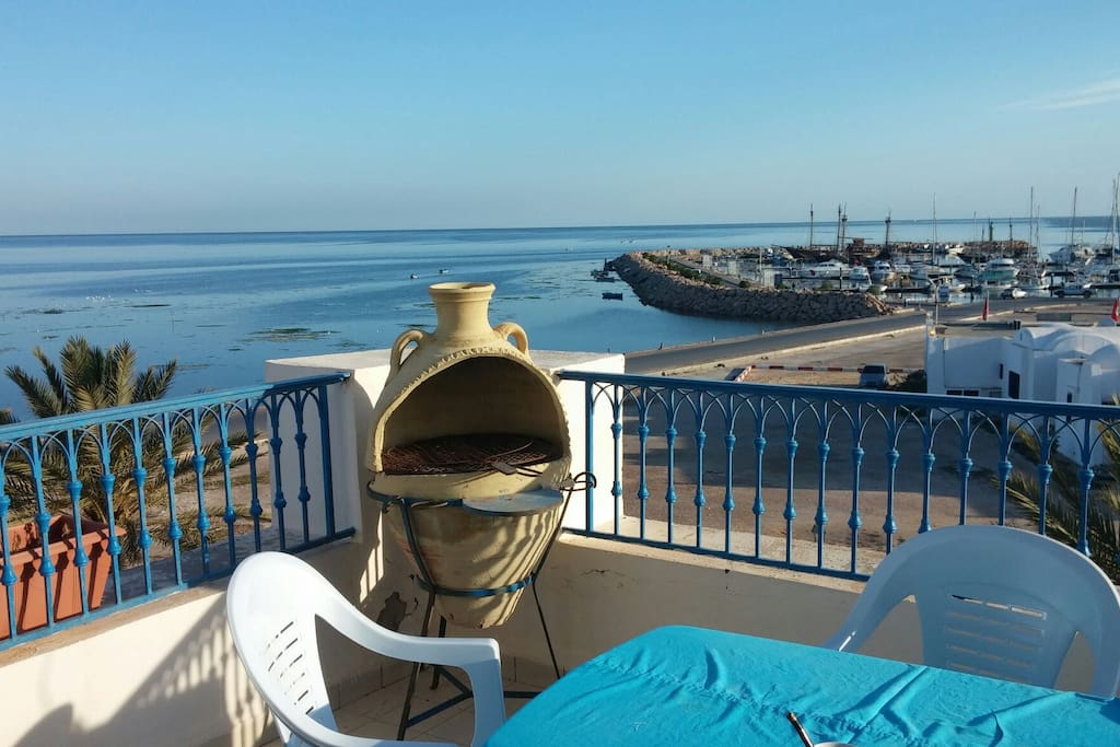 Vue panoramique marina Djerba
