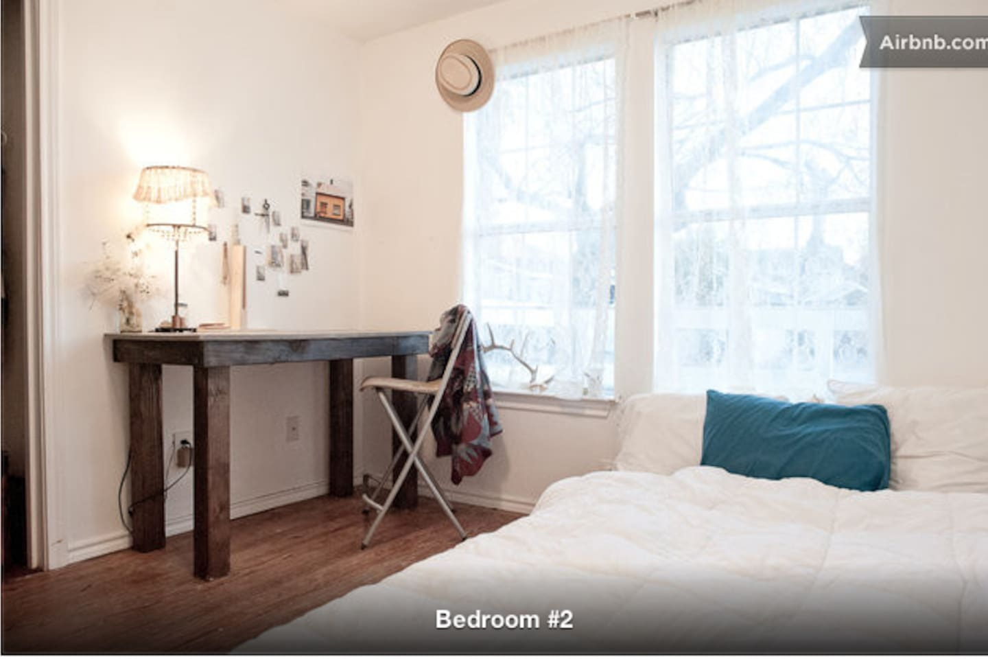 Hardwood floors, a memory foam mattress, fresh linens and closet await you in the White Bright room!  (for more pics of this house see my lisitng under the Saffron House)