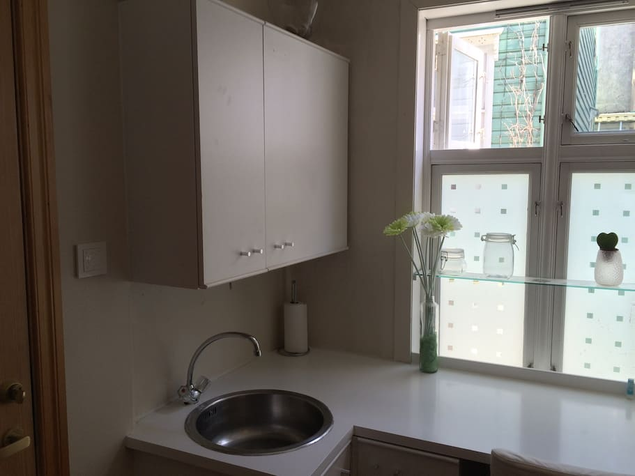Small kitchen in living room
