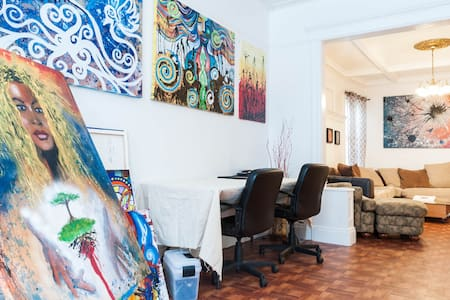 Cozy Room (S) Art Apt. JSQ near NYC - Jersey City - Appartamento