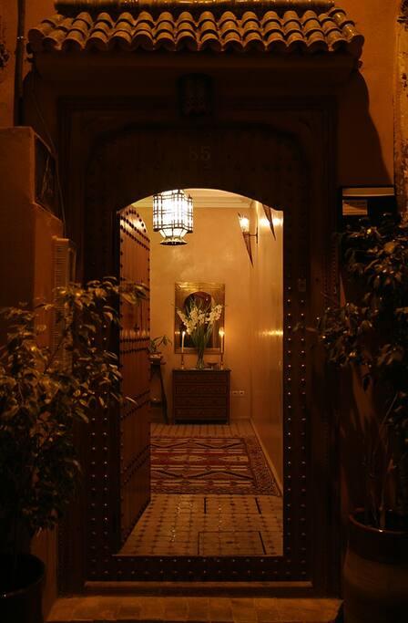 L'entrée du Riad Dar Zampa