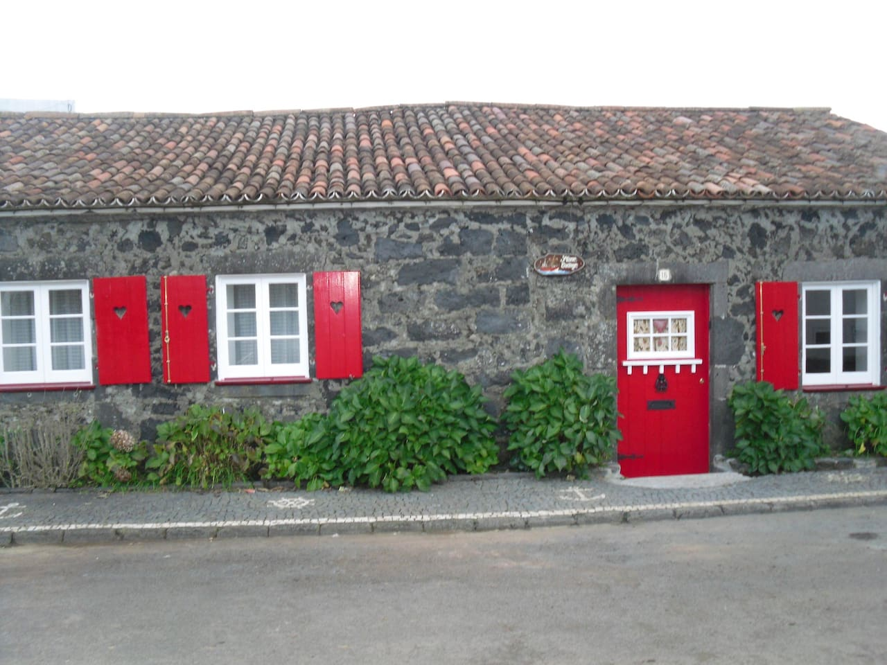 Front of Cottage with traditional Azorean pavement