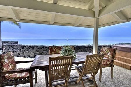 Oceanfront next to beach SFH AC/SPA for 8 ppl - Kailua-Kona - House