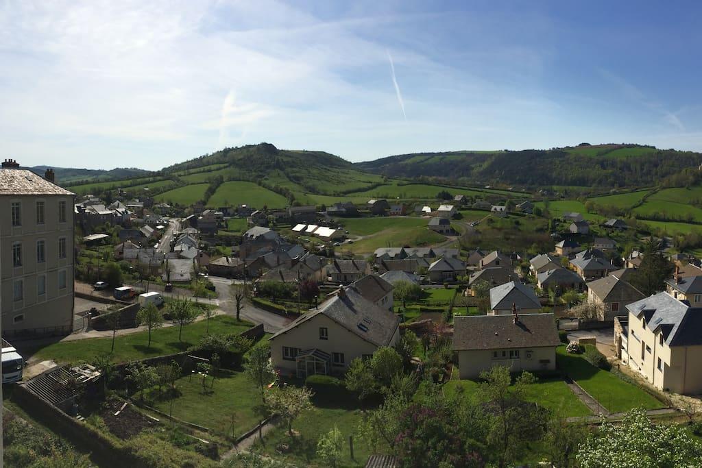 vue imprenable sur la vallée