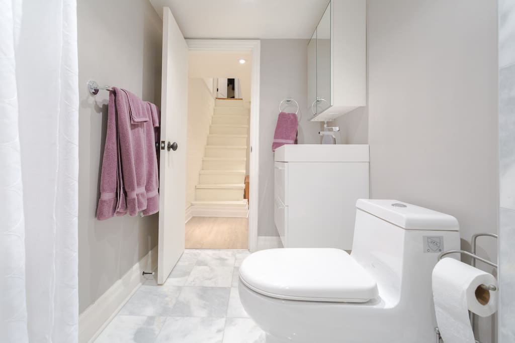 Your private bathroom stocked with toiletries.
