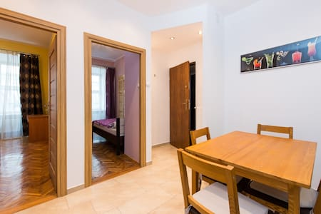2 bedrooms on Main Square ♥ Parking - Krakow