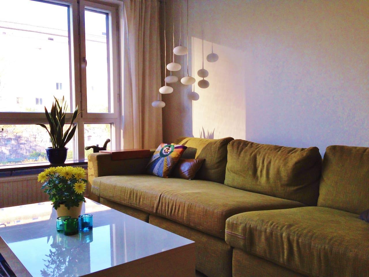 Sunny living room.