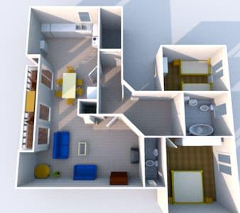 Großzügige 3-Zimmer-Wohnung - Apartamento