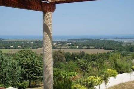 Appartement + jardin avec vue mer - Ventiseri