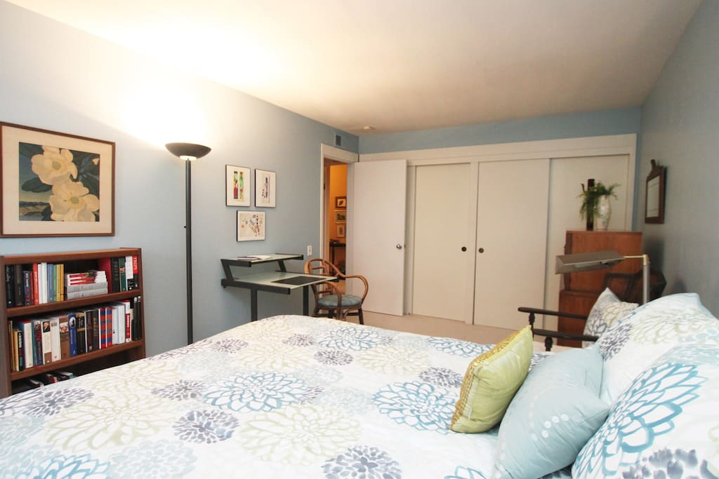 Comfy queen bed and large closet