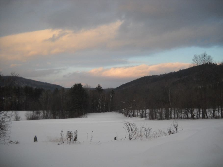 Winter sunset in Vermont!