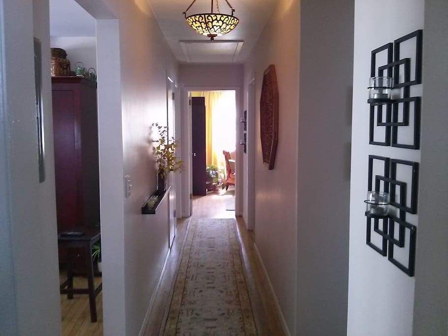 Hall leading to bedrooms.