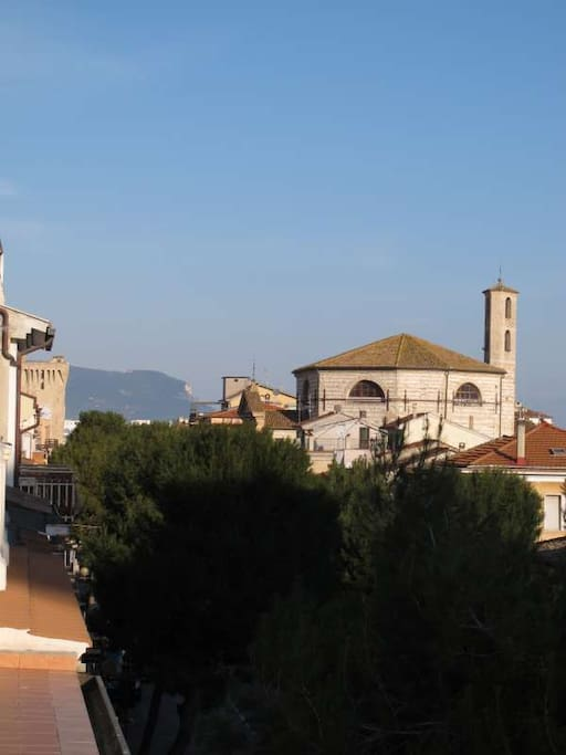 View of the Monte Conero from the terrace