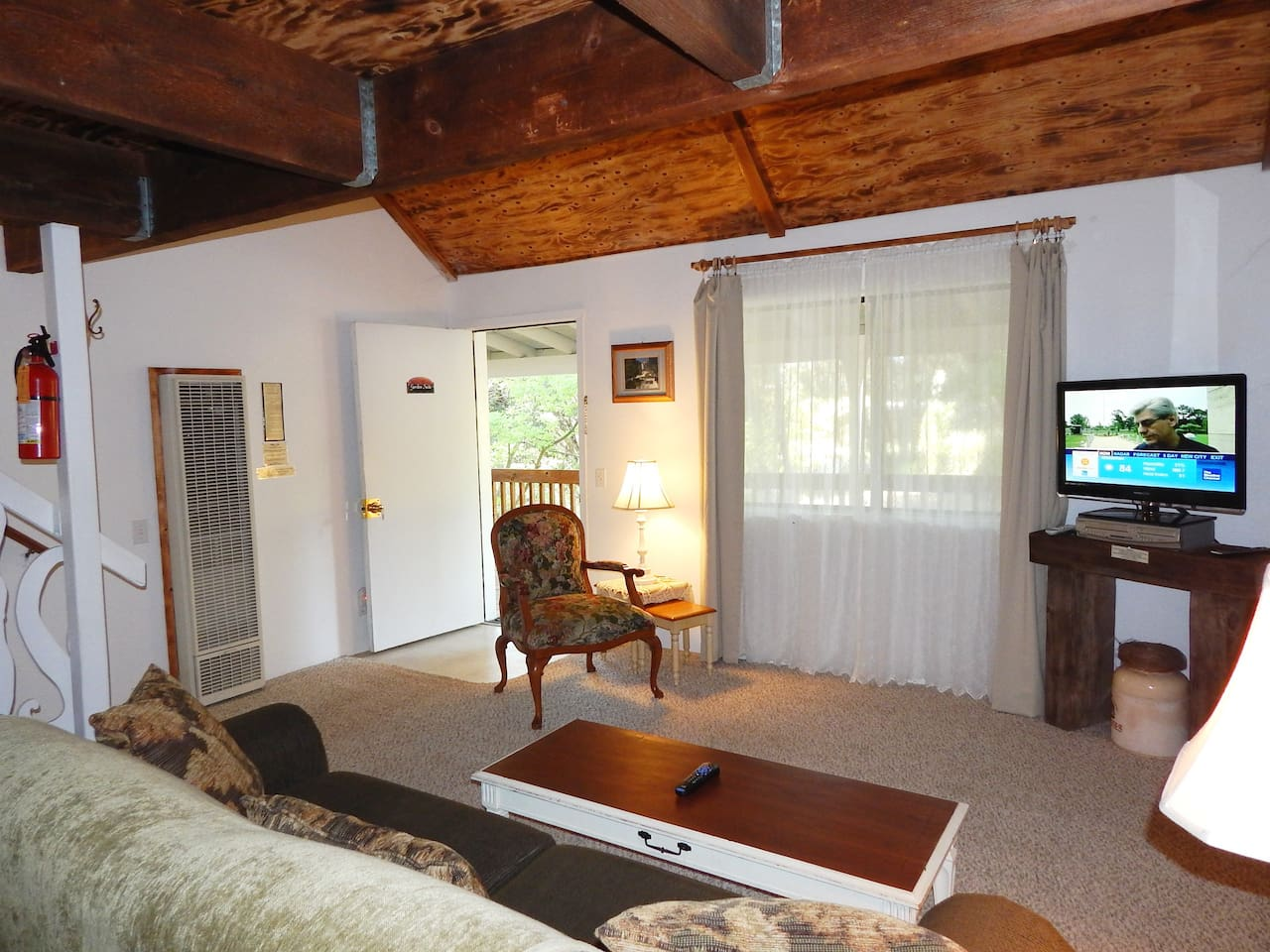 Garden Suite is a two story, two bedroom suite with a king, queen and sofa bed.