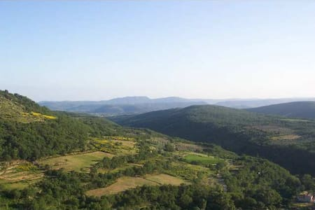 This cottage is located above the village of Salces ( commune of Saint Privat  in Hérault - France ) . Quiet and peaceful guaranteed for nature lovers.  Many departures walks.