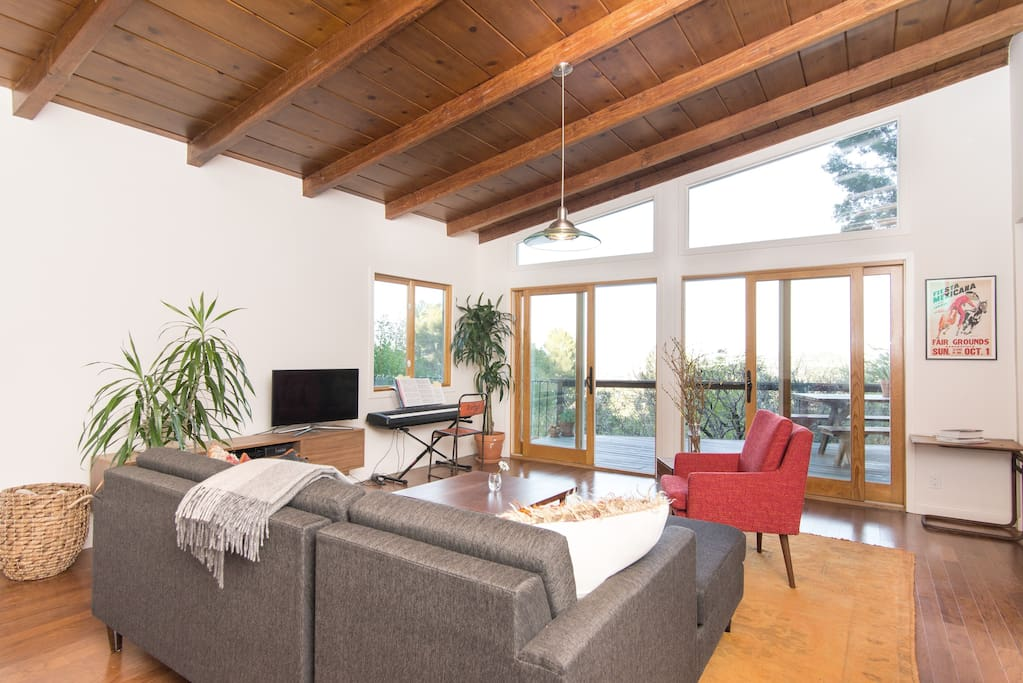 Living area facing views of mountains.
