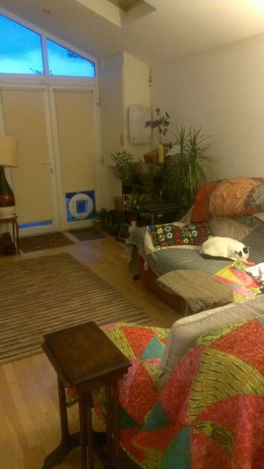 Living room with Hardie