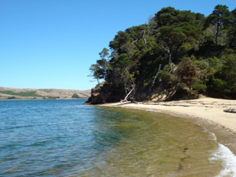 Shell Beach, only 5 minutes drive from Fern Cottage.