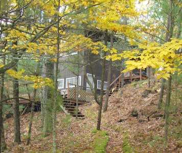 Cottage in the woods-Lake MI access - Stuga