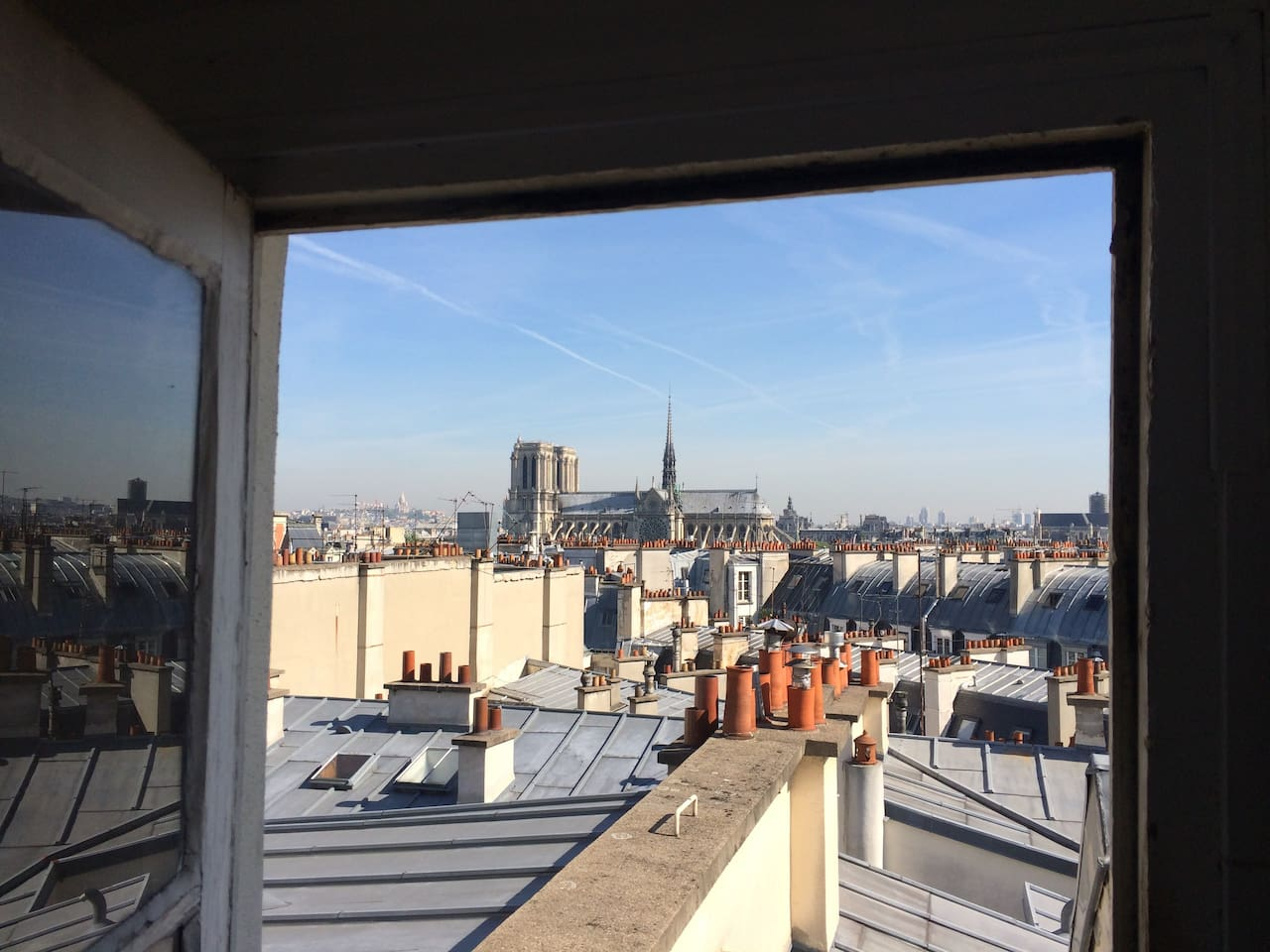 The amazing view on Notre-Dame