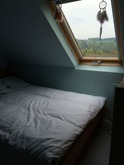 Bedroom has views towards Ringinglow and Peak District...