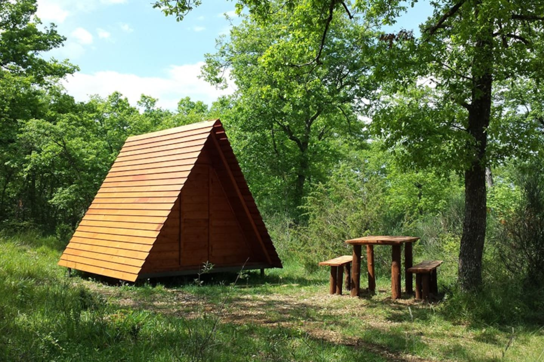 Le casette tenda nel bosco