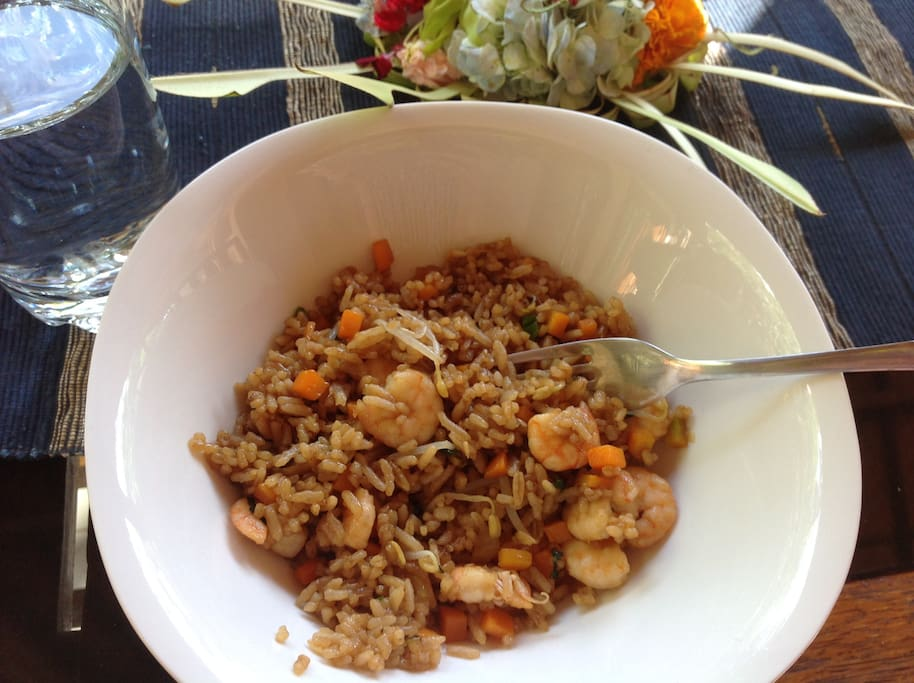 Nasi Goreng - We can teach long-term stay guests to cook authentcic Balinise cuisine :)
