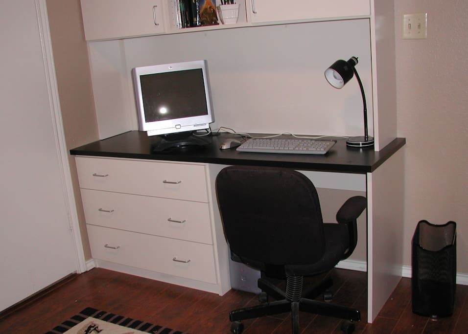 Computer Desk in Bedroom