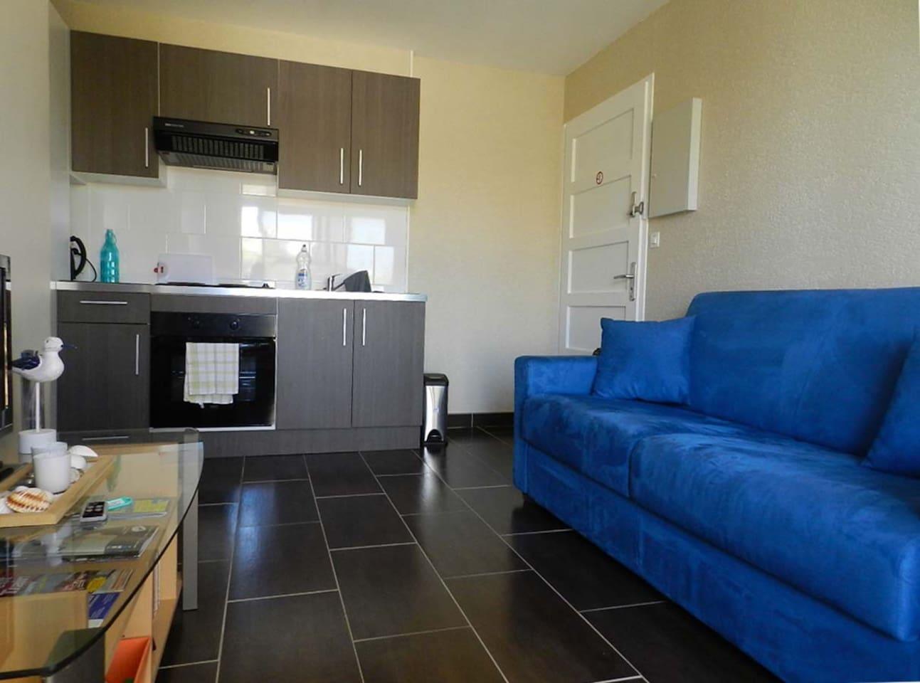 Espace salon/cuisine Living room/kitchen
