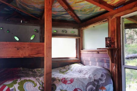 Artsy Island-Style Glamping Hut