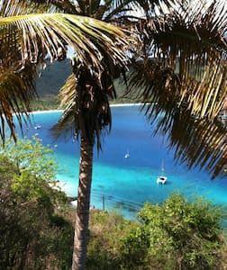 """"""" ladyDove """" on lovely magens bay"""