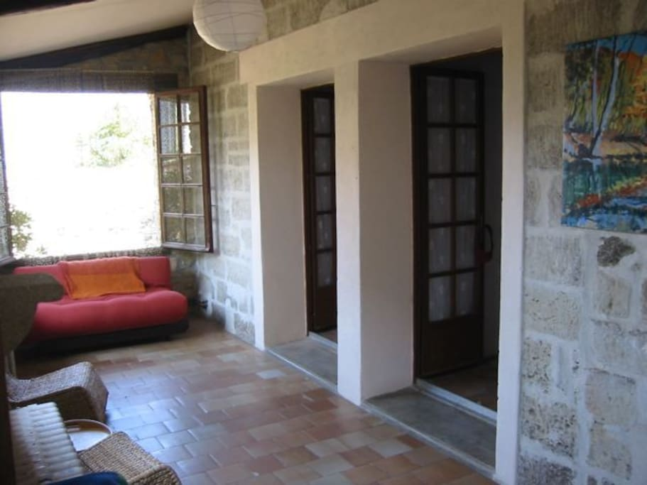 Loggia, outside the bedrooms