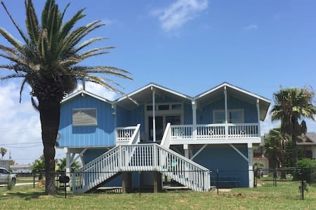 Cozy Beach House with Oceanview and access! - Galveston - Ev