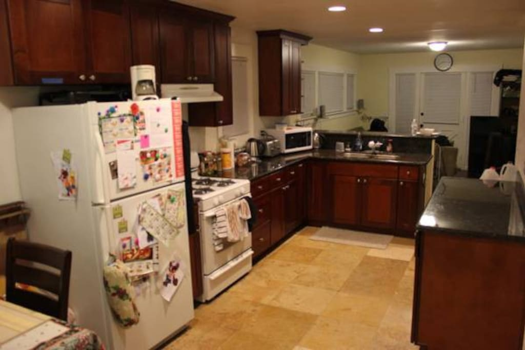 Clean, renovated kitchen. Full use of all appliances and utensils.