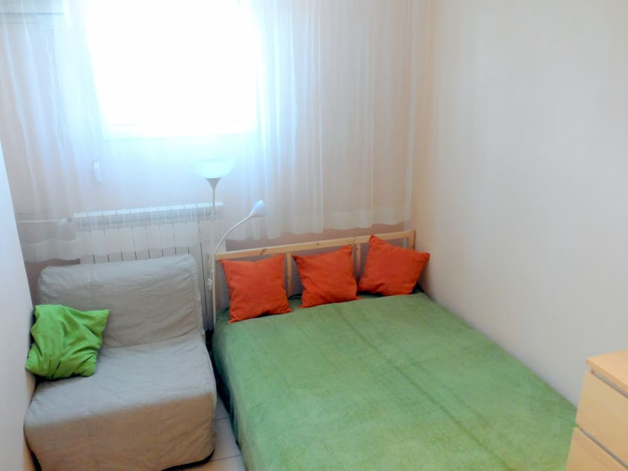 Specially for our guests - new, normal size double bed plus chair-bed for third person!