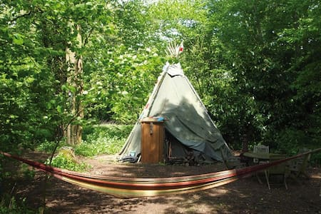 'Off Grid' Tipi Camping At Loddon Mill Arts - Tipi