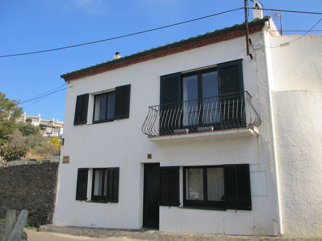 Our house in the center of Cadaques!  The apartment is downstairs.